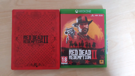Red Dead Redemption 2 (Xbox One) with LIMITED EDITION Steel book case