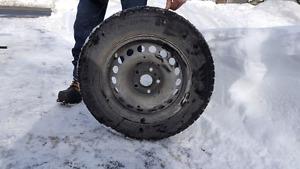 Cooper Starfire Winter Tires on Steel Rims