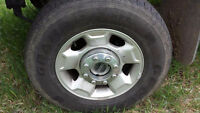 Grabber HTS tires on 2012 Ford Superduty Rims with centre caps