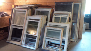 Used windows – perfect for a cottage, camp, garage, etc!