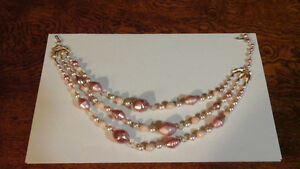 Pink 3 Tier Necklace