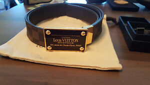 Authentic Louis Vuitton Mens Belt & Prada Cuff-links