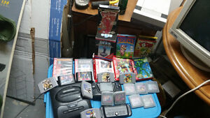 Many old video game consoles and games!!
