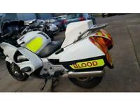 2004 04 HONDA ST1300 ABS ST 1300 PAN EUROPEAN AMBULANCE BLOOD ESCORT POLICE