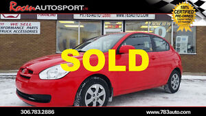 SOLD!!! CERTIFIED 2008 ACCENT - ONLY 42K!!! NEW TIRES - YORKTON