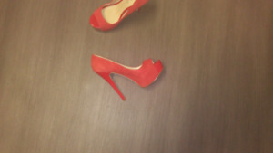Size 6 Red Suede Shoes $10