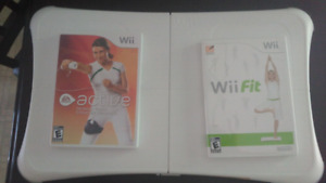 Wii fit & active w/balance board
