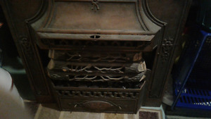 Electric antique fireplace