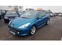 2005 Peugeot 307 CC Convertible 2.0HDi 136 SE 6Spd Diesel blue Manual