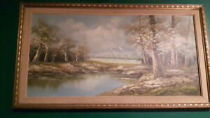 2 ORIGINAL ONE OF A KIND HENRY FOSTER OIL ON CANVAS