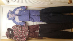 Girl Snow Suits Size 2/3,  Snow Pant Size 12 and 16.