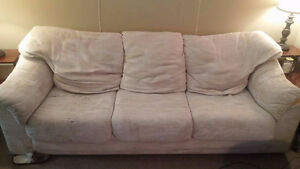 Comfortable White Couch - Perfect For First Apartment