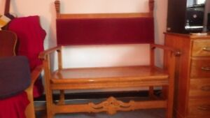 Rare Antique Oak Bench