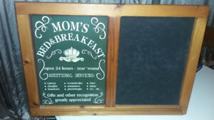 Tin Signs/Chalkboard Mom's Bed and Breakfast/Dad's Fix-It Shop