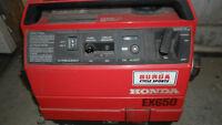 HONDA EX650 Generator VERY QUIET! Silent 4 stroke like new!