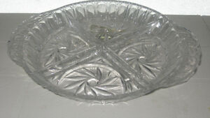 PINWHEEL CRYSTAL APPETIZER SERVING DISH