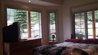 Creekside room with a view for rent in Fairmont Hot Springs