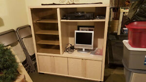 Washed Oak Entertainment Unit
