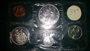 1963 SILVER coin set still in its original packaging from RCM... London Ontario image 1