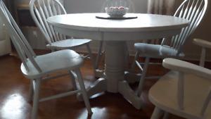 Solid Oak White Wash Kitchen Set