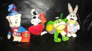 """A Looney Tunes Year"" Mini Beanie Babies from 1999"