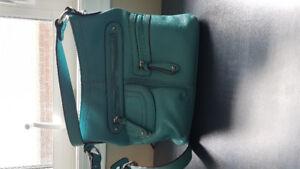 Danier Leather Original Purse..... Teal Blue