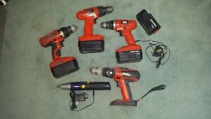 Set of Four 18 Volt Cordless Drills