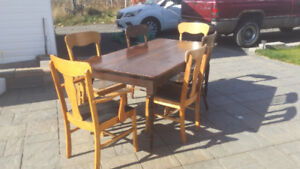 Antique Old Table and Chairs