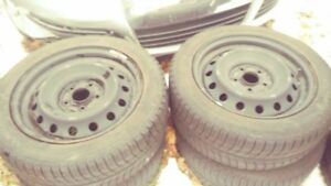 """4 Michelin X Ice Studless 16"""" Tires 205/55R16 Includes Rims!"""