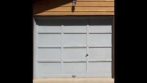 2 - 9X7 brown wooden garage doors
