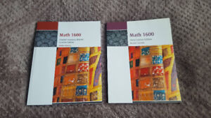 UWO Math 1600 Textbook & Solutions Manual, MINT Condition