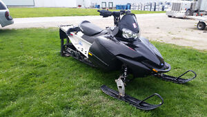 """2009 polaris IQ 600 stretched to a 144"""" track"""
