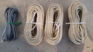 New Telephone Extension Cord/Cable RJ-11 - 2 x 25 ft + 1 x 6 ft