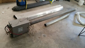 Propane tube heater 15' foot long for a garage