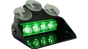 COMPACT LED DASH LIGHT FIREFIGHTER PLOW TOW TRUCK GREEN