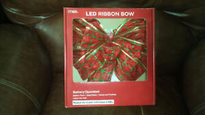 LED Christmas Bows New in Box