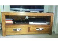 Hardwood TV cabinet