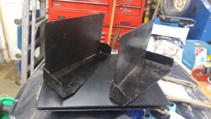 62-64 B body Mopar sub frame dust shields.