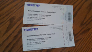 2 front row tickets to Nana Mouskouri at Casino NB, Moncton.