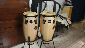 """Brand New Meinl 10""""&11"""" Congas With Stands"""