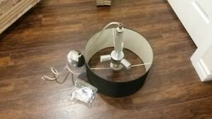 Grey Hanging Kitchen Table Light in Good Condition