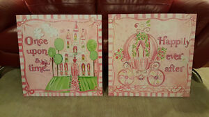 "Set of 2 Canvas prints (24x24""each) New. $40"