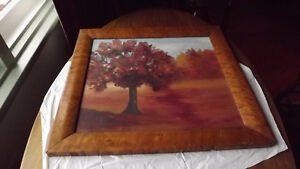 ANTIQUE PICTURE TREE WITH BIRD'S EYE MAPLE FRAME