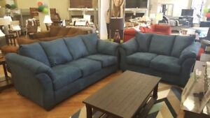 Ashley Darcy Blue Sofa\Loveseat