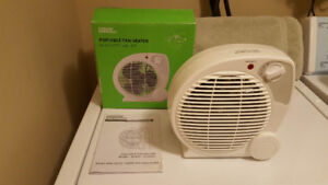 Portable Fan Heater-1 Fan Setting & 3 Heat Settings-Never Used
