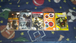 Psp games for sale 5$