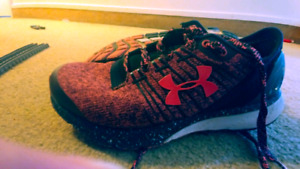 Woman's size 6.5 and 3.5 UA sneakers