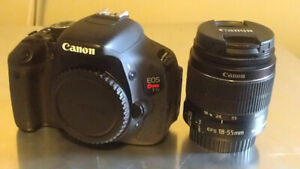 Canon T3i With Lens/Battery/Charger/Bag/Memory Card - $300