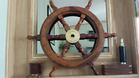 SALE PENDING! Handcrafted Nautical Ship Wheel, Indian Rosewood