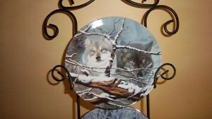 "Wolf Art, Bradford Exchange ""Collectable Fine Porcelain Plates Kitchener / Waterloo Kitchener Area image 1"